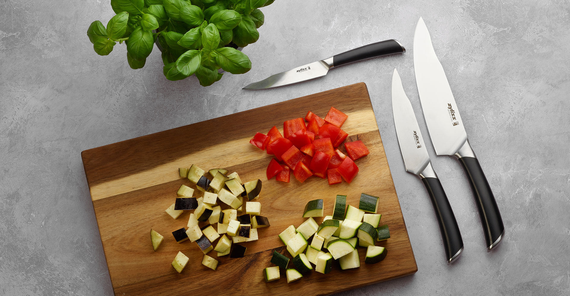 Zyliss home cooking knives and cookware