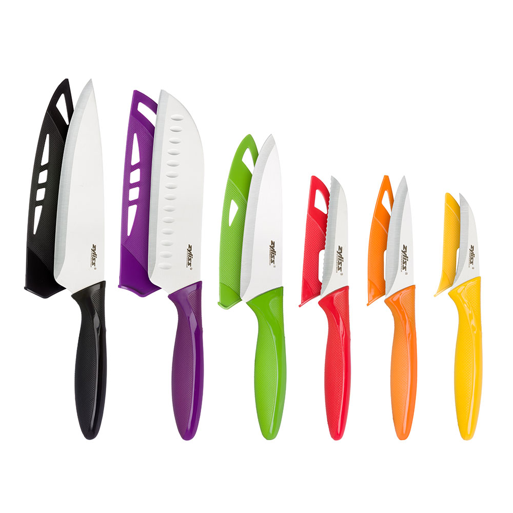 Zyliss 6-Piece Knife Value Set with Sheaths