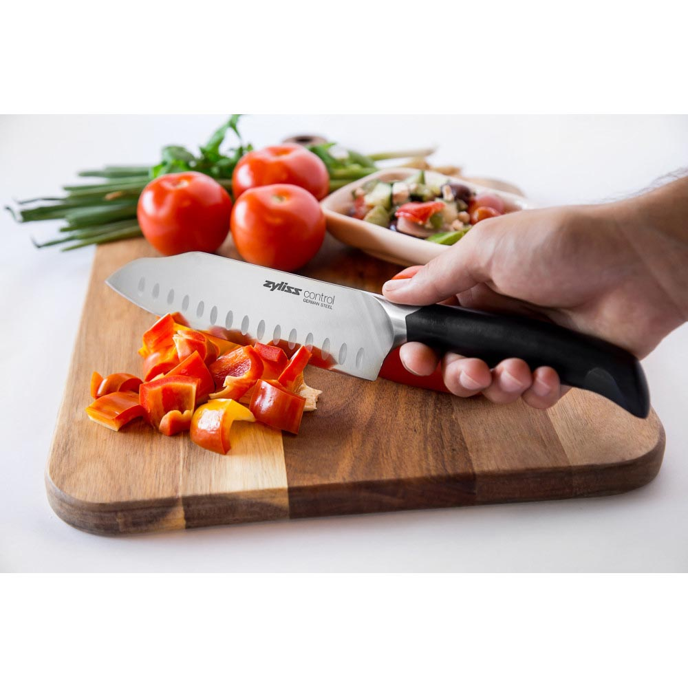 Zyliss Control 7 in. Forged Stainless Steel Santoku Knife