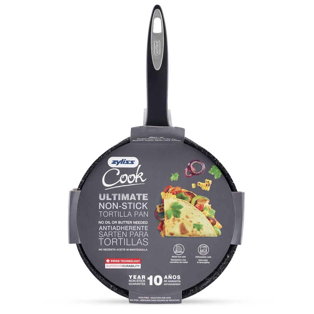 Zyliss 10 in. Ultimate Nonstick Tortilla & Crepe Pan, Dishwasher & Metal Utensil Safe