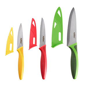 Zyliss 3 Piece Knife Set Yellow/Red/Green - E920191U