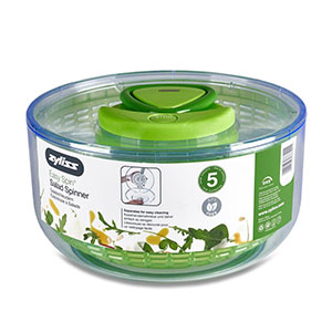 Zyliss Easy Spin Salad Spinner, Large, Green, BPA Free - E940001U
