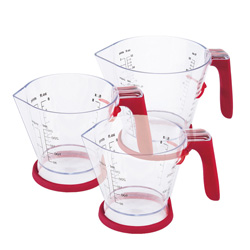 Zyliss 3-Piece Measuring Cup Set with No Drip Spouts, Acrylic - E970043U